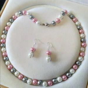 Akoya pearl pastel shell colors set